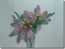 French Beaded Purple Lillys by foreverflowers