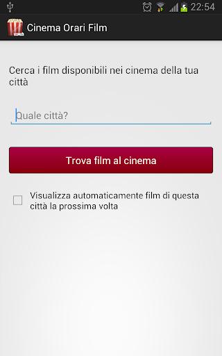 Cinema Orari Film