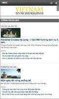 Screenshot of Vietnam Tours Information