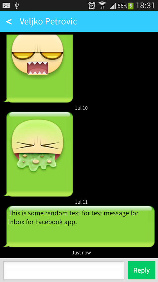 Fast Messenger for Facebook L - screenshot