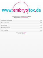 Screenshot of Embryotox