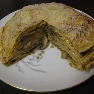 Mushroom Crepe Torte