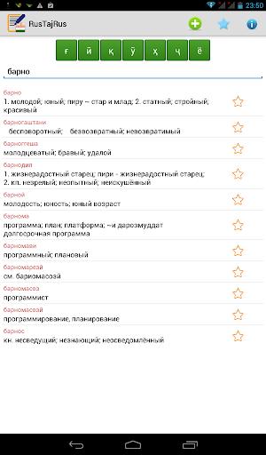 Русско - таджикский cловарь