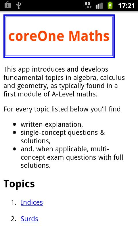 PTC A-Level coreOne- screenshot