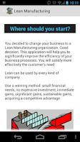 Screenshot of Lean Manufacturing