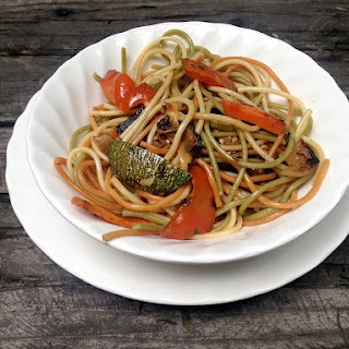 Asian Pasta with Sauteed Vegetables.