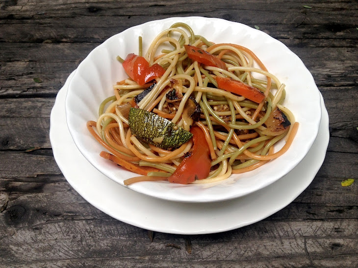 Asian Pasta with Sauteed Vegetables Recipe