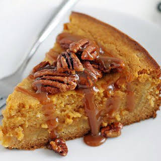 Gooey Pumpkin Butter Cake with Pecans.