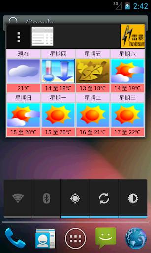 香港七天天氣預測天氣警告連部件