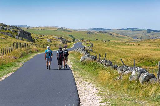 Santiago-du-compostelle - Hiking through Santiago de Compostela, the capital city of Galicia in northwestern Spain.