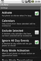 Screenshot of I'm Busy