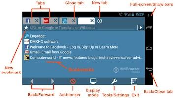 Screenshot of MiniBrowser BETA