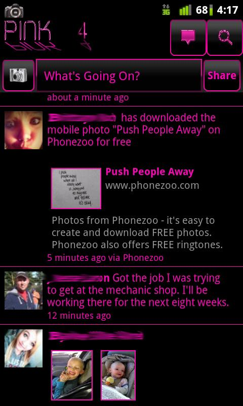 Pink 4 Facebook - screenshot