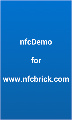 nfcDemo for nfcBrick