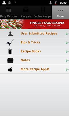 Finger Food Recipes! - screenshot