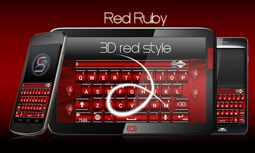 SlideIT Red Ruby Skin- screenshot thumbnail