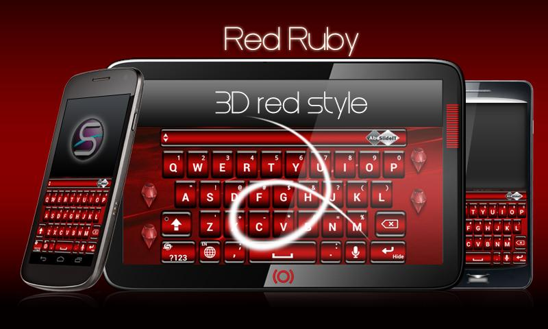 SlideIT Red Ruby Skin - screenshot