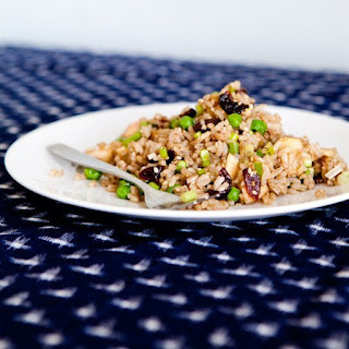 Brown Rice Salad with Apples, Walnuts, and Cherries.