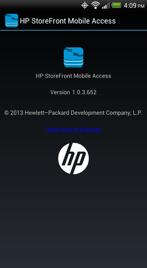 HP StoreFront Mobile Access - screenshot