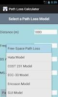 Screenshot of Path Loss Calculator
