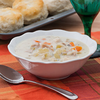 Creamy Turkey and Wild Rice Soup {Slow Cooker}.