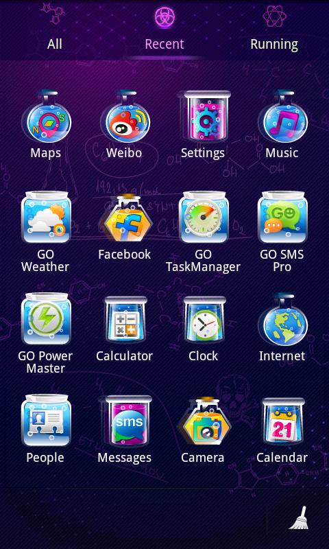 Chemistry GO Launcher EX Theme - screenshot