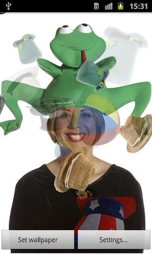 変な帽子ライブ壁紙