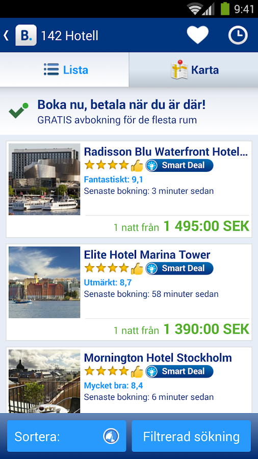 Booking.com – 445 000 hotell - screenshot