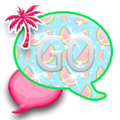 GO SMS THEME/PinkFruit