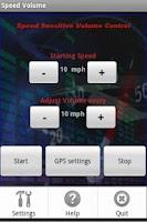 Screenshot of Speed Volume