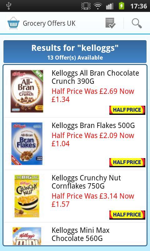 Grocery Offers UK - screenshot