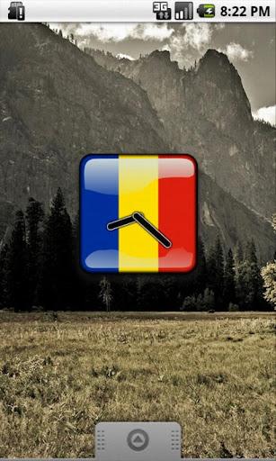 Romania Flag Clock Widget