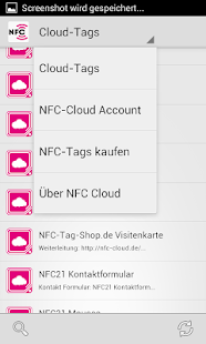 NFC-Cloud App Screenshot