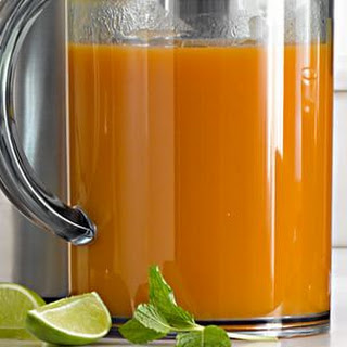 Carrot and Apple Juice with Ginger.