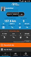 Screenshot of iSki Tracker