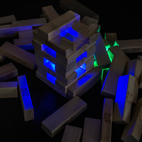 Glow Jenga by James Case - Abstract Light Painting ( lights, games, fun, blocks, jenga )