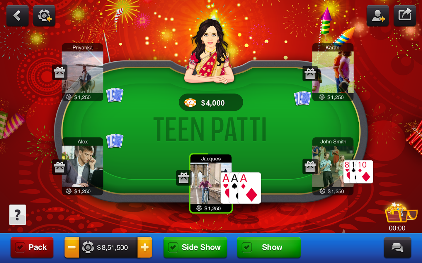 online card games teen patti