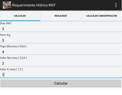 Requerimiento Hidrico RNT