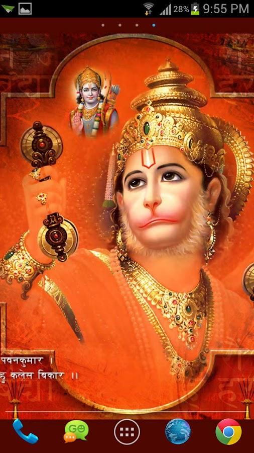 New Lord Hanuman HD Live Wall - screenshot