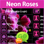 GO SMS Pro Neon Roses