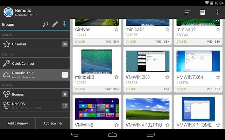 android Remotix VNC RDP Remote Desktop Screenshot 5