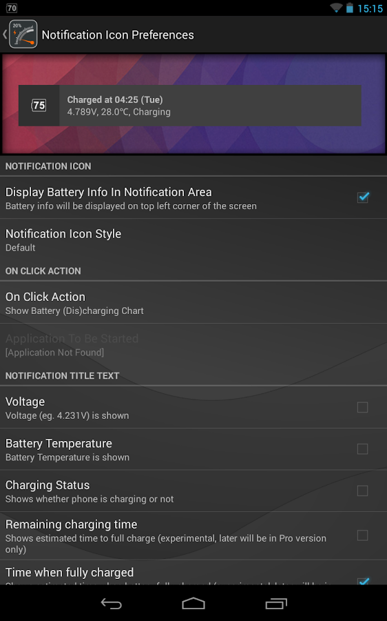 Gauge Battery Widget 2013 - screenshot