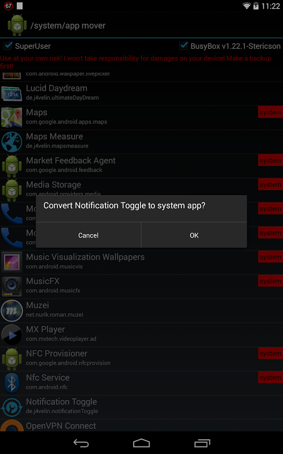 /system/app mover ★ ROOT ★ - screenshot