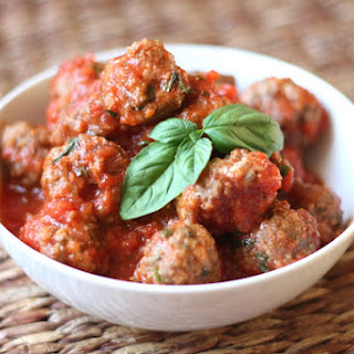 Baked Italian Herb and Parmesan Meatballs.