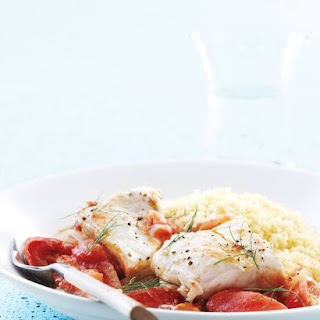 Halibut with Tomatoes and Fennel.
