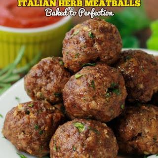 Italian Herb Baked Meatballs Recipe