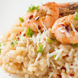 Roasted Shrimp Risotto