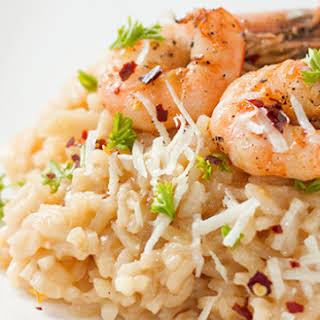 Roasted Shrimp Risotto.