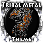 Tribal Metal Go Launcher Theme