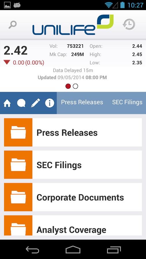 Unilife IR - screenshot